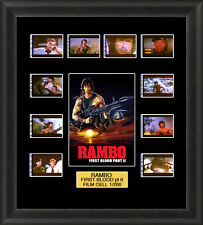Rambo First Blood Part 2 1985 Framed 35mm Film Cell Memorabilia Filmcells Movie