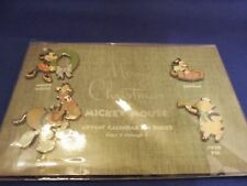 WALT DISNEY 1930 ADVENT CALENDAR 4 PIN SET LE 1500 MINNIE ORPHAN TANGLEFOOT PIG