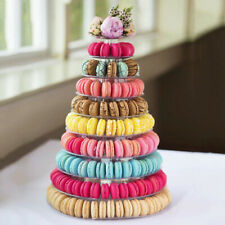 10 Tier Round Macaron Tower Display Stand Cake Bread Show Rack for Party Wedding