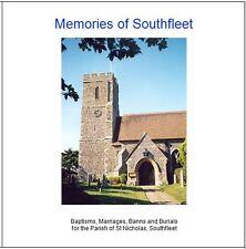 Southfleet, Kent -Genealogy CD contains Parish Registers (BMD) Transcripts