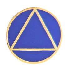Alcoholics Anonymous AA Sobriety Circle & Triangle Pin Badge