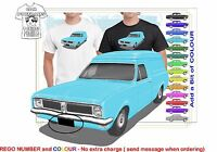 CLASSIC 70-71 HG HOLDEN VAN ILLUSTRATED T-SHIRT MUSCLE RETRO SPORTS