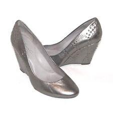 Kenneth Cole 9 2 5 Lucky Break Silver Metallic Slip On Wedge Shoes Size 6.5 $195