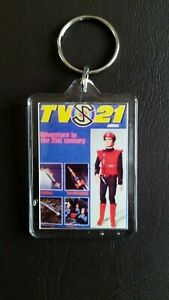 TV21 annual  Double Sided Large Keyring Key Ring Fob Chain Gift