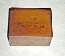 Antique Fountain Pen Nib Box 2 Compartments Rabbet Joints Niagara Falls Souvenir