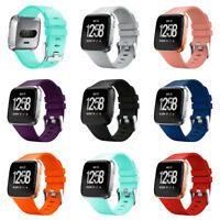 Soft Silicone Sport Wristband Bracelet Band Strap Replacement for Fitbit Versa