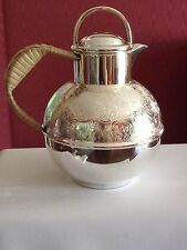 Rare 1920s  Barker Brothers EPNS  Silver plated Teapot / Wicker handle 11/2 Pint