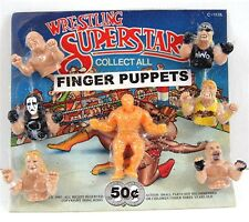 Wrestling Superstars Finger Puppets Toys Gumball Vending Machine Disp Card #66