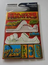 Scrapbooking Crafts Stickers 3D Coaster Fanatics Roller Whee! Scream Do it Again