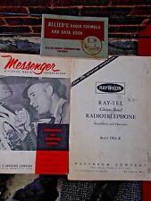 Lot of 3 vintage tech electronic manuals, CB  Radio, Allied. Messenger, Raytheon