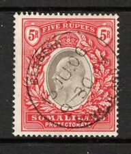 Somaliland Protectorate KEVII  1904  5r Grey Black & Red SG44 Used (High Cat)