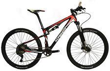 "15"" S TRAIL RED MTB STRADALLI CARBON FIBER BICYCLE DUAL SUSPENSION XT 27.5 650B"
