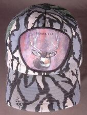 Vtg YAMPA, CO Hat-Buck Deer-Camo-Trucker-Snapback-Mesh-3D Patch-Hunting-Green
