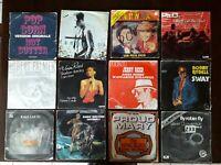 Lot de 40 vinyles 45 tours : variétés internationales