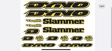 Dyno Slammer 1994  Decal Set Stickers old school BMX Restoration
