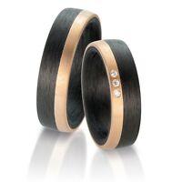 Carbon Roségold Trauringe | Eheringe | Hochzeitsringe | Partnerringe P3212760