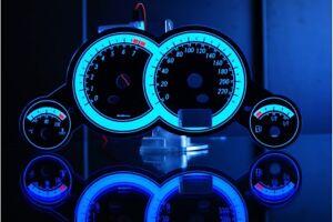 OPEL CORSA C glow gauges dials plasma dials kit tacho glow dash shift Style 1