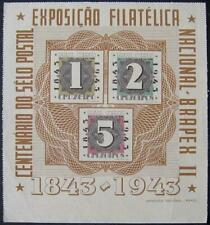 More details for brasil 1943 stamp centenary minisheet, fine unused. sg.685a
