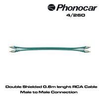 Phonocar 4/260 Double Shielded 0.6m Lenght RCA Cable Male to Male Connectors