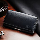 Black Leather Case Clip Horizontal Pouch for HTC U11 Life