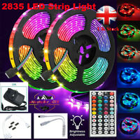 10-15M RGB 3528 LED Strip Lights With IR Remote Back Light 12V Colour Changing U