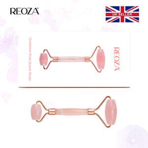 Jade Roller Superior Rose Quartz Facial Roller 100% Natural Pink Pouch UK Seller