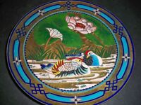 "FIDELITY MOU-SIEN TSENG CLOISONNE PLATE ""TIMELESS EXPRESSION OF THE ORIENT"""