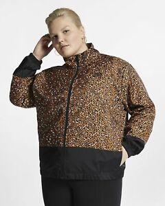 Nike Sportswear Womens Animal Print Woven Jacket Plus Size 1X CI0184-754