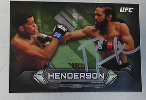 Benson Henderson Signed UFC 2014 Topps Knockout Green Card #12 /99 Autograph 144