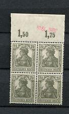 Reich Nr. 98x POR Viererblock postfrisch ** geprüft Infla (D57-15)