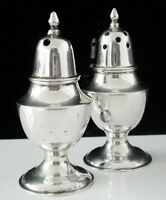 Chinese Export Silver Salt & Pepper Pots by Sammy of Hong Kong c.1920