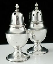 More details for chinese export silver salt & pepper pots by sammy of hong kong c.1920