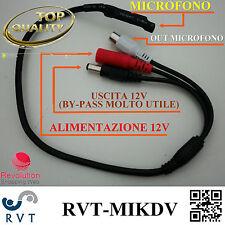 Microfono ambientale occultabile per DVR Telecamere Micro MIni Spia Spy