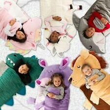 "Kids Animal Sleeping Bag 27""W X 56"" L Unicorn,Dinosaur,Shark,LLama"