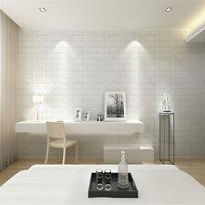 Fashion 30*60cm White 3D Brick Wall Sticker Self-adhesive Decal