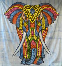 Tagesdecke afrikanischer Elefant bunt Tie Dye Baumwolle Wandbehang Überwurf