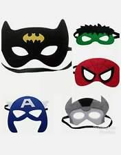 5x Superhero Masks Kids Party Birthday Hulk Avengers Spiderman Batman Boy Girl