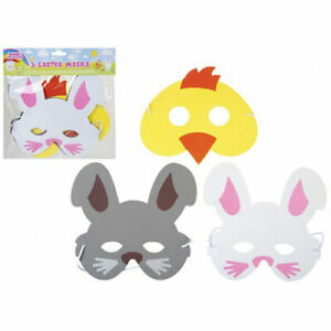 Easter EVA Foam Mask for Children to Make Decorate and Wear (Pack of 3)