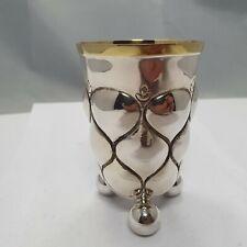 wunderschöner Kugelfußbecher Silber 800 punziert h: 11,2 cm