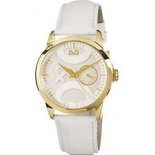 D&G Dolce and Gabbana Ladies DW0698 TWIN TIP Gold Plated Watch