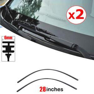 2pcs 28″ Car Rubber Graphite Windshield Wiper Blade Refill Repla Accessories