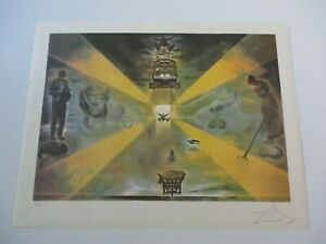 FINEST SALVADOR DALI LITHOGRAPH ABSTRACT EXPRESSIONISM SURREAL  MODERNISM SIGNED