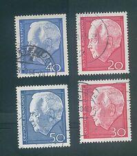 Germany 1964,1967 Henrich Lubke Sc#881-882 974-975