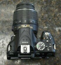 Nikon D5200 Black 24.1MP DSLR Camera & AF-P 18-55mm Lens. Shutter Count 38,473