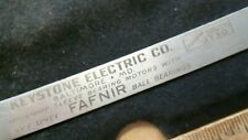 c.1928 Keystone Electric Baltimore Steel Rule Ph. South 1730 antique vintage old