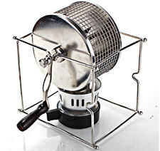 Manual Stainless Steel Coffee Beans Roaster Machine Home Kitchen Roller Baking