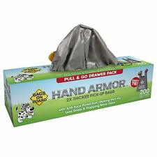 Bags On Board Hand Armor Dog Poop Bags   Extra Thick Dog Waste Bags with Leak