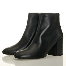 Stuart Weitzman Bacari Black Leather Zip Boot - Size 10 M