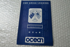 Amiga Game / Software Manual / Paperwork ~ Ryder Cup Ocean