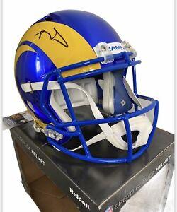 NFL Signed Aaron Donald LA Rams Full Size Speed Helmet JSA COA American Football